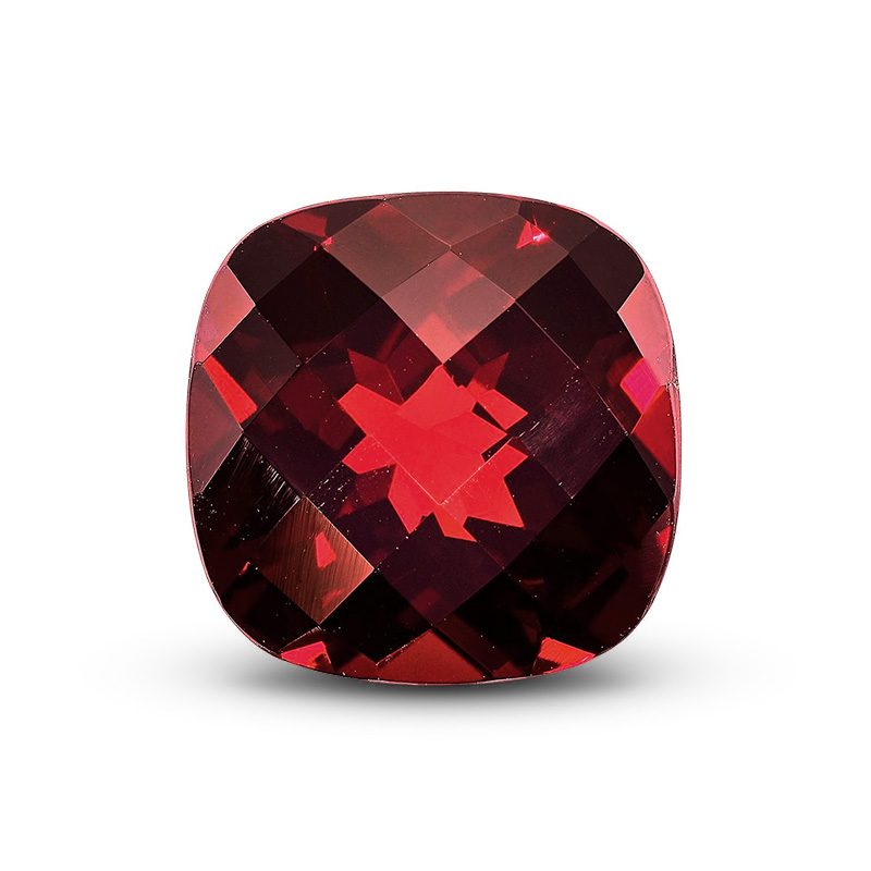 Checkerboard Cut Garnet